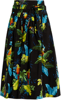 Marc Jacobs Tropical bird-print cotton-blend skirt