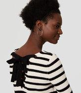 LOFT Striped Lace Up Back Sweater