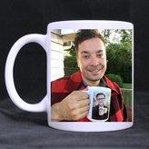 Bethwit11 2buymore Mug Jimmy Fallon & Justin Timberlake 11 OZ White Mug 100% Ceramic Coffee/Tea White Cup by 2buymore