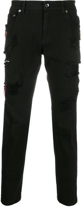 Dolce & Gabbana Crown Patches Skinny Jeans