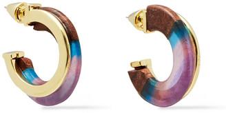 Noir Gold-tone, Wood And Resin Earrings