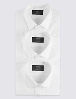 M&S Collection 3 Pack Easy to Iron Modern Slim Fit Shirts