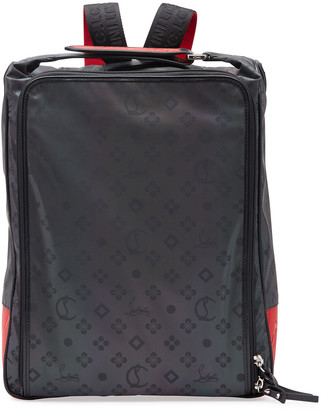 Christian Louboutin Men's Reflective Square Zip-Around Backpack