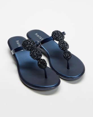 Holster Women's Navy Sandals - Fantasia - Size One Size, 5 at The Iconic