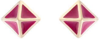All We Are Atlas Pyramid Stud Earring - Berry
