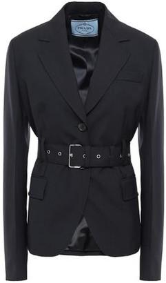 Prada Belted Wool Blazer