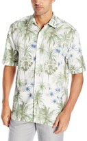 Cubavera Cuba Vera Men's All Over Palm Tree Print Short Sleeve Woven Shirt