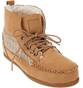 Muk Luks Lily Moccasin Style Short Boot w/Faux Fur