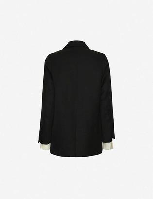 Taiga Takahashi Emsley Lounge single-breasted linen-blend blazer