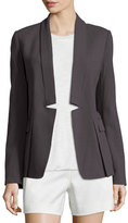 Halston Long-Sleeve Open-Front Jacket, Lead