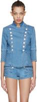 Pierre Balmain Blue Denim Double-breasted Jacket