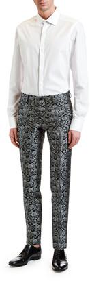 Dolce & Gabbana Men's Solid Cotton Pointed-Collar Dress Shirt