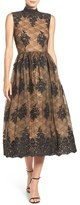 Tracy Reese Embroidered Lace Midi Dress