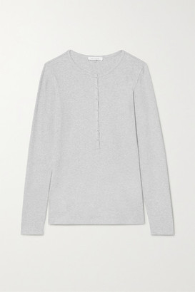 Ninety Percent Net Sustain Ribbed Organic Cotton-blend Jersey Top - Gray