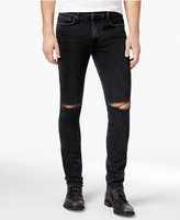 Joe's Jeans Men's Legend Idris Slim-Fit Stretch Ripped Destroyed Stone Black Jeans
