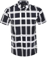 Antony Morato Printed Check Shirt Blue