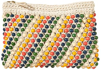Madewell Beaded Clutch (Natural Rainbow) Handbags