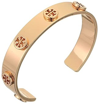 Tory Burch Logo Studded Cuff Bracelet (Tory Gold) Bracelet