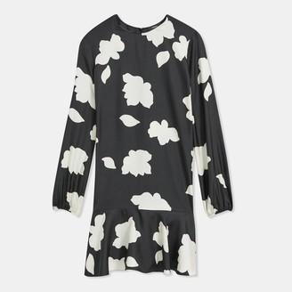 Theory Petal Silk Flared Dress