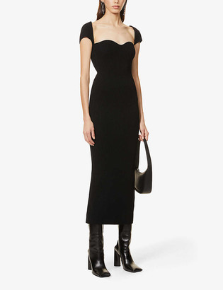 KHAITE Allegra sweetheart-neck stretch-knit maxi dress