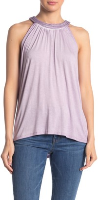 Cable & Gauge Braided Halter Neck Knit Top