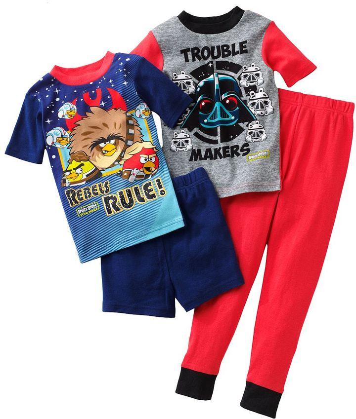 Star Wars Angry birds double trouble 4-pc. pajama set - boys 4-12