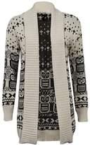 ZJ Clothes Womens Plus Size Drape Aztec Owl Print Knitted Open Cardigan Jumper Top (XXXL, )