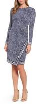MICHAEL Michael Kors Women's Cheetah Border Print Sheath Dress