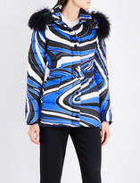 Emilio Pucci Wave-print shell puffer jacket