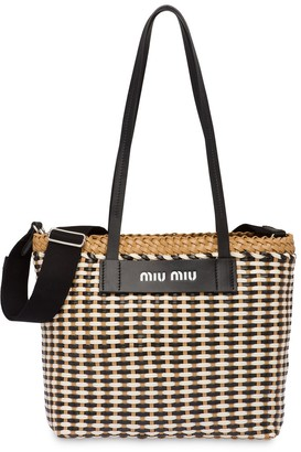 Miu Miu Medium Woven Tote Bag