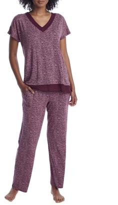 Donna Karan Aubergine Modal Pajama Set
