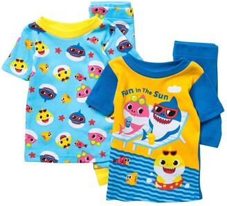 AME Baby Shark 4-Piece T-Shirt & Shorts Pajama Set