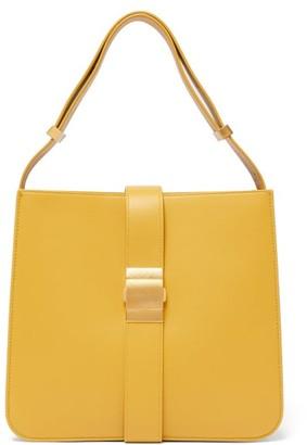 Bottega Veneta The Marie Leather Shoulder Bag - Light Yellow