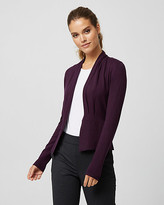 Le Château Pleated Viscose Blend Open-front Cardigan