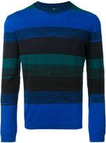 Paul Smith stripe panel jumper - men - Cotton - M