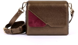Hiva Atelier Mini Mare Leather Bag Metallic Brown & Burgundy Suede
