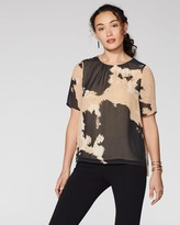 Vince Camuto Abstract-print Chiffon Top