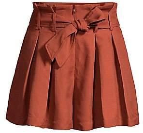 Sandro Women's Eddi Paperbag Waist Shorts