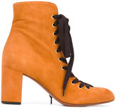 Chloé Miles lace up ankle boots - women - Leather/Suede - 36
