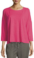 Eileen Fisher Organic Cotton Hemp 3/4-Sleeve Top