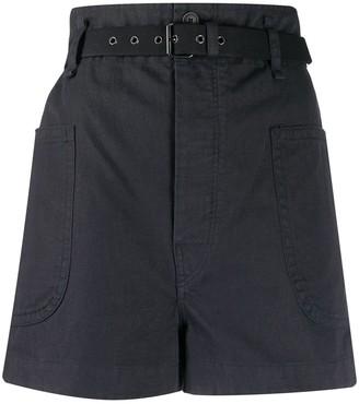 Etoile Isabel Marant High-Waisted Belted Shorts
