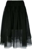 Twin-Set sheer A-line skirt - women - Polyamide/Polyester/Viscose - 40