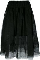 Twin-Set sheer A-line skirt