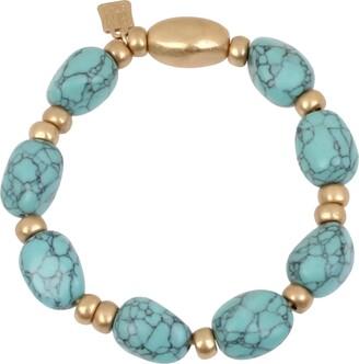 Robert Lee Morris Soho Stone Beaded Stretch Bracelet