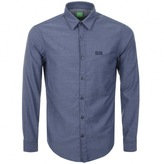 BOSS GREEN Long Sleeve C Buster Shirt Navy