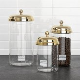 Crate & Barrel Bodum ® Chambord Classic Gold Storage Jars, Set of 3