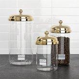 Crate & Barrel Bodum ® Chambord Classic Gold Storage Jars, Set of 3