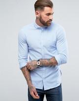 Boss Orange By Hugo Boss Cattitude Slim Fit Stretch Shirt Blue