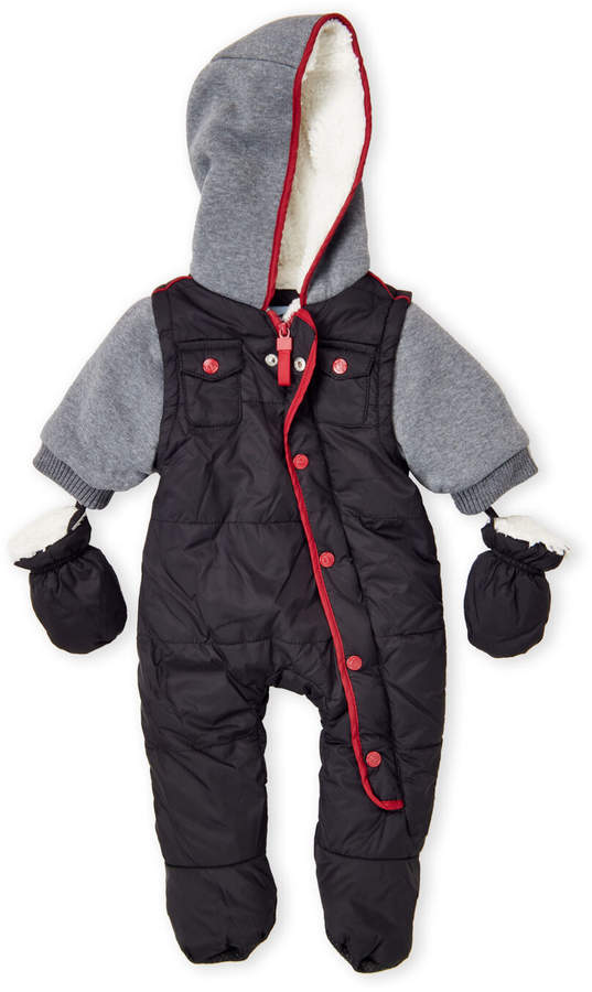 5baef4f65 Newborn Boys) Sherpa Lined Quilted Hooded Snowsuit