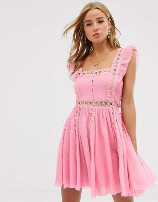 Free People Verona mini dress-Pink